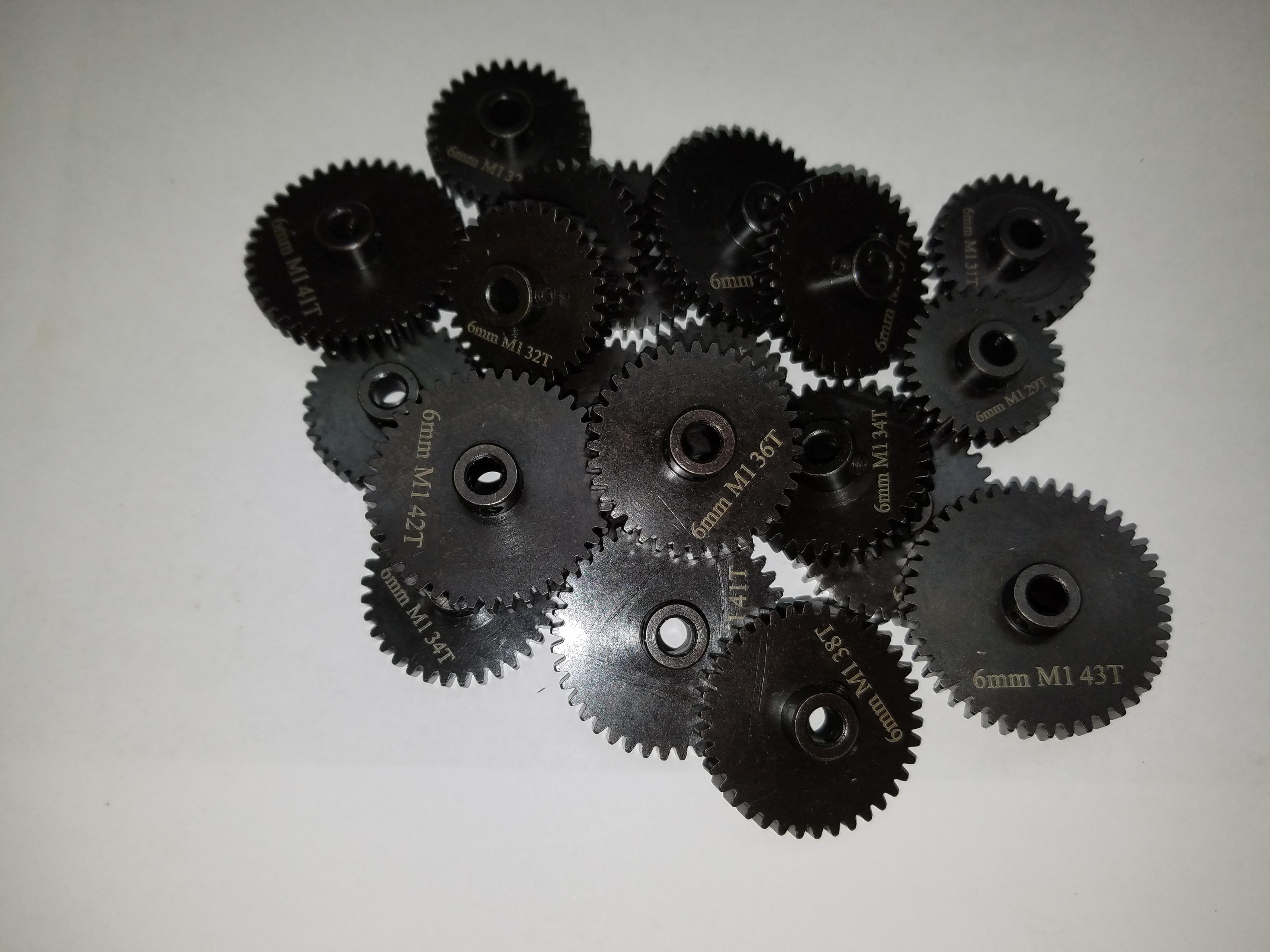 Sagacustomrc 1-8mm Pinion Gears 24t mod 1